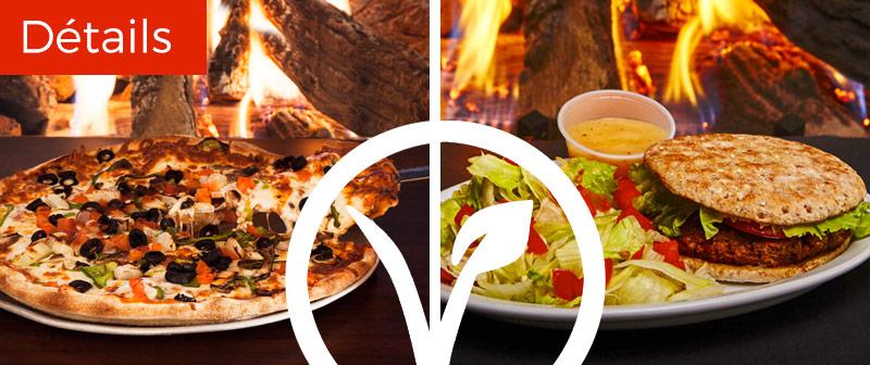 Plats végétariens - Pizza et Végé Burger